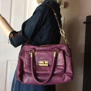 Coach Kristin Satchel Purple Leather